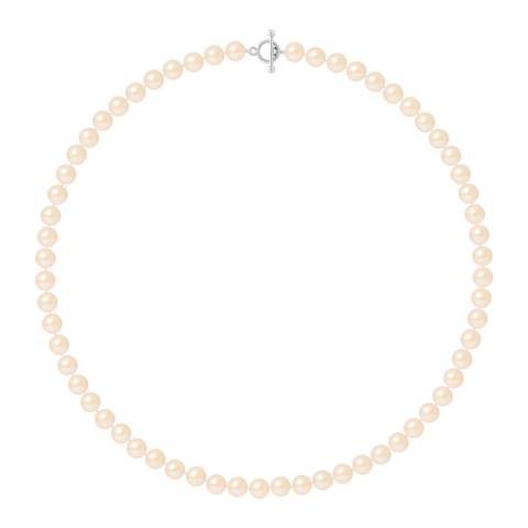 Mitzuko Natural Pink Row Of Pearls Necklace 4-5mm