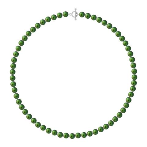 Mitzuko Green Row Of Pearls Necklace 4-5mm