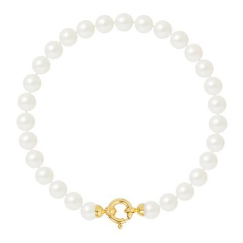Mitzuko White Freshwater Pearl Bracelet