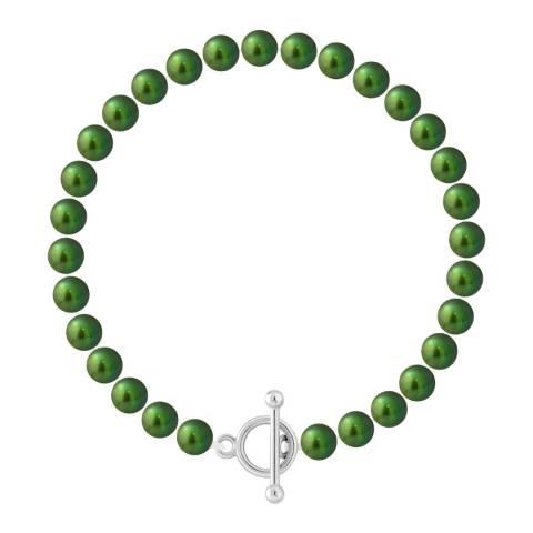 Mitzuko Malachite Green Freshwater Pearl Bracelet
