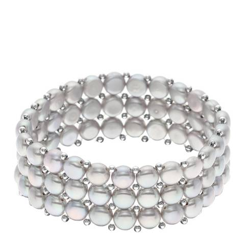 Mitzuko Grey Round Pearl Bracelet 7-8mm