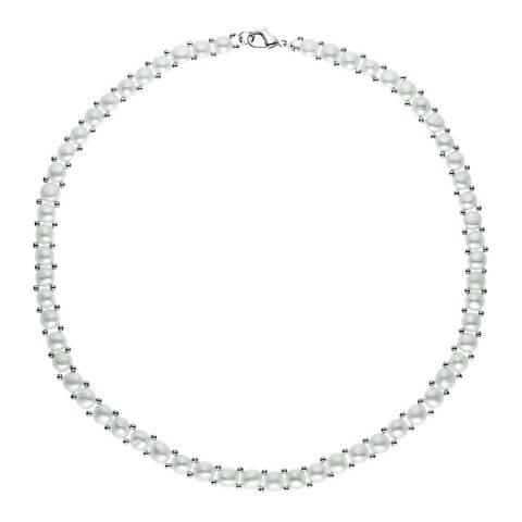 Mitzuko White/Silver Pearl Necklace