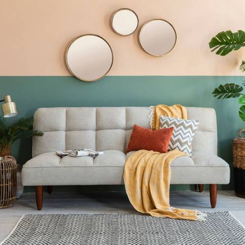 Gallery Oslo Sofa bed, Double Mattress (Parchment)