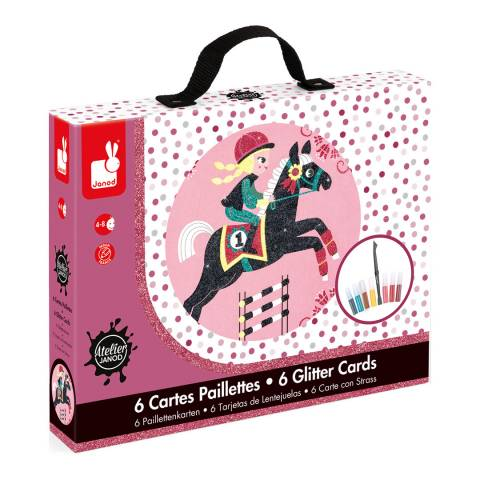 Janod The World of Horses Glitter Cards