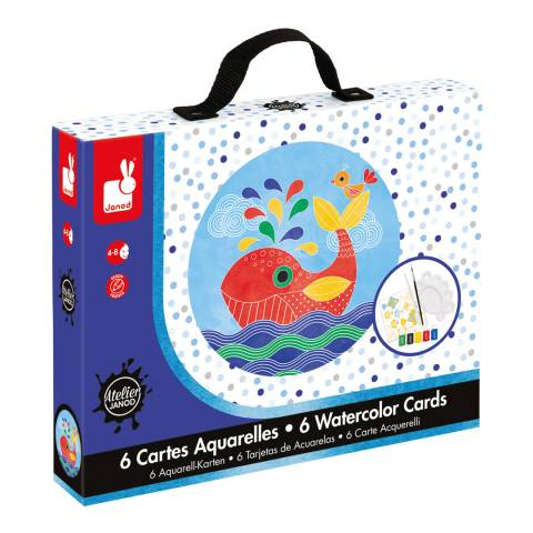 Janod Under the Sea - Water Colour Cards