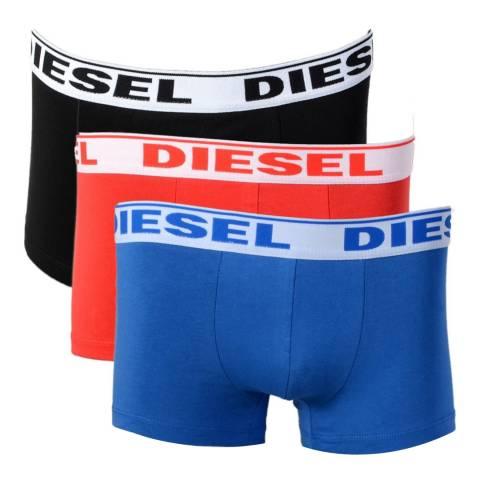 Diesel Black/Red/Blue 3 Pack Shawn Boxers