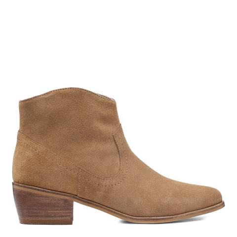 Laycuna London Light Tan Western Suede Spanish Boots