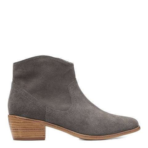 Laycuna London Grey Western Suede Boots
