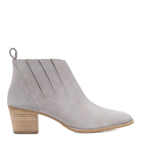Laycuna London Light Grey Suede Spanish Ankle Boots