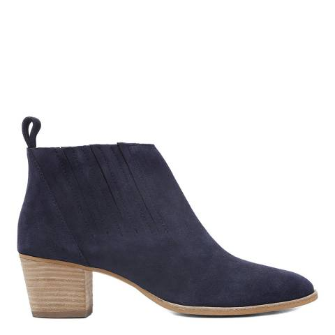 Laycuna London Navy Suede Spanish Ankle Boots