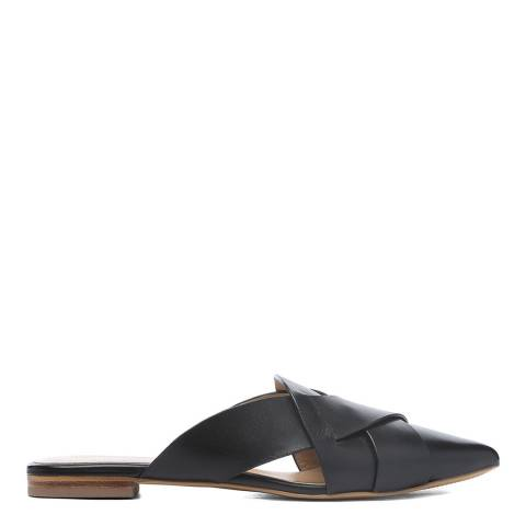 Laycuna London Black Leather Spanish Slip Ons