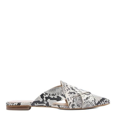 Laycuna London Snake Print Spanish Leather Slip Ons