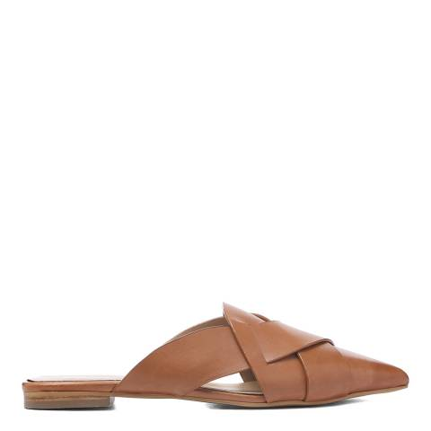 Laycuna London Tan Leather Spanish Slip Ons