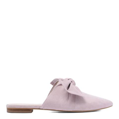 Laycuna London Blush Bow Detail Suede Spanish Slip Ons