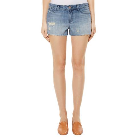 J Brand Pale Blue Distressed Shorts