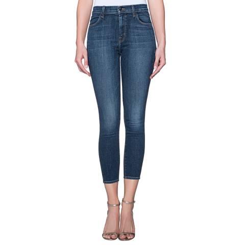 J Brand Indigo Alana High Rise Crop Skinny Stretch Jeans