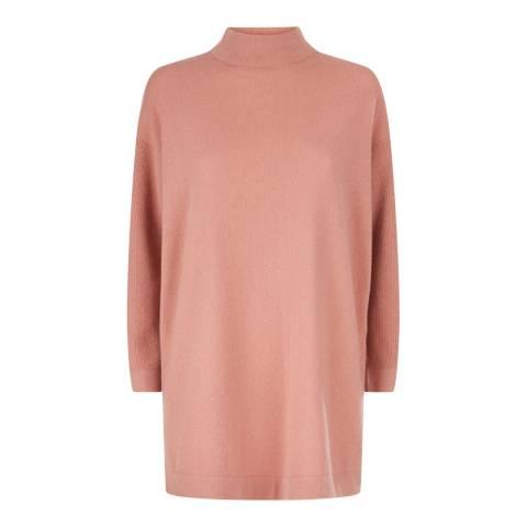 Jaeger Peach Knit Cashmere Blend Tunic