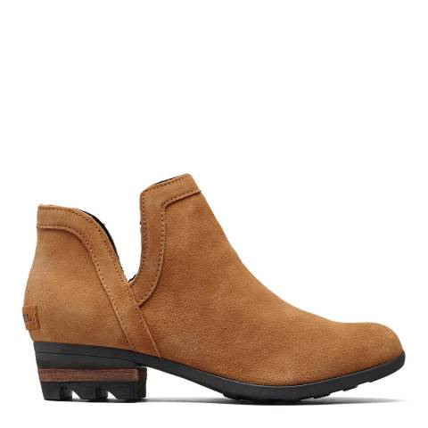 Sorel Camel Suede Lolla Cut-Out Ankle Boots