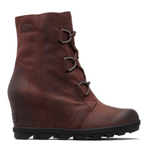 Sorel Brown Leather Joan Wedges