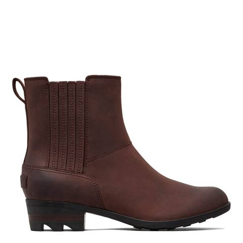 Sorel Burgundy Leather Lolla Chelsea Boots