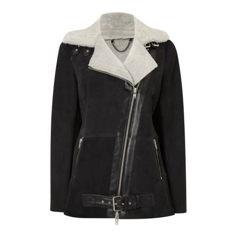 Muubaa Black/White Trat Shearling Jacket