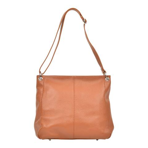 Carla Ferreri Cognac Shoulder Bag