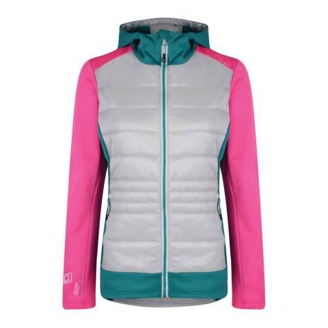 Dare2B Pink/Grey Inset Hybrid Jacket