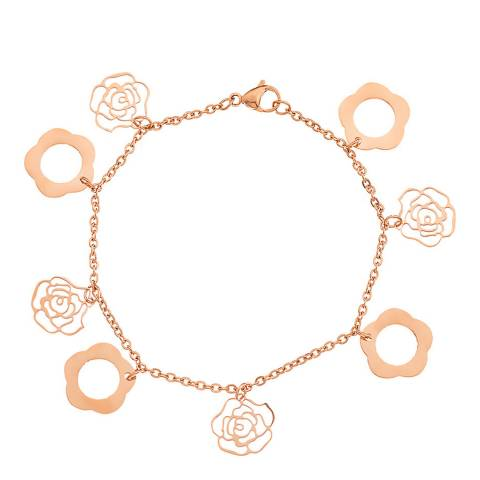 Liv Oliver Rose Gold Charm Bracelet 6-7mm