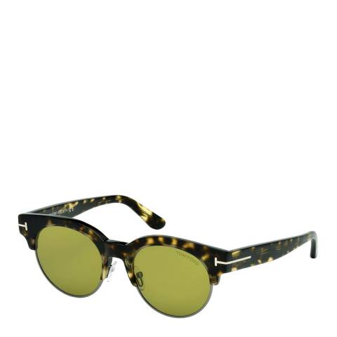 Tom Ford Men's Brown/Green Tom Ford Sunglasses 50mm