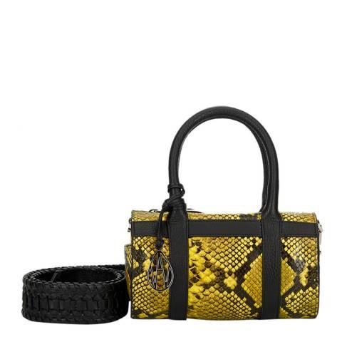 Amanda Wakeley Acid Yellow / Python Mini Hendrix Bag
