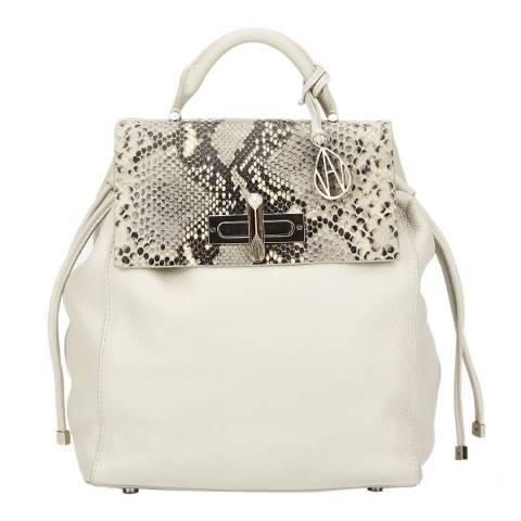 Amanda Wakeley Mineral / Natural Python Mini Elba Bag