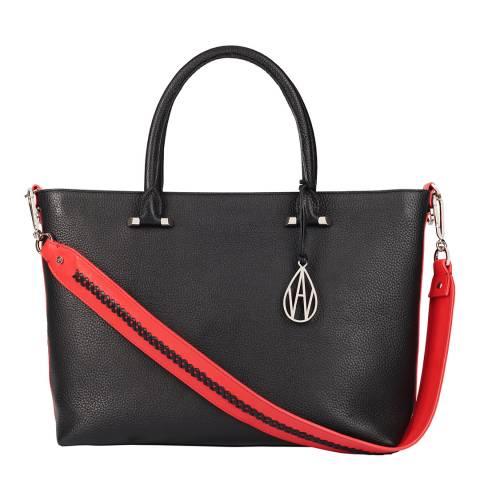Amanda Wakeley Black Campbell Leather Tote Bag
