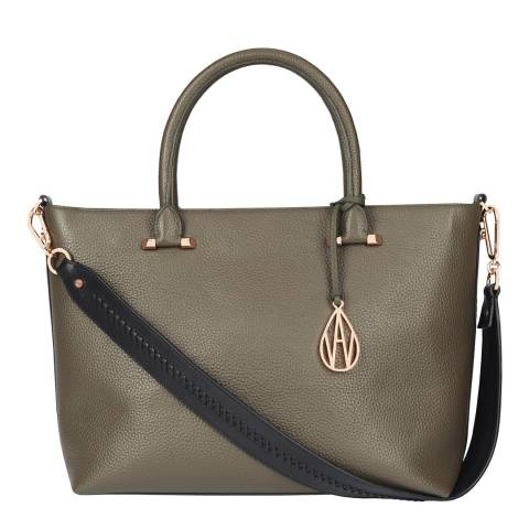 Amanda Wakeley Khaki Campbell Leather Bag
