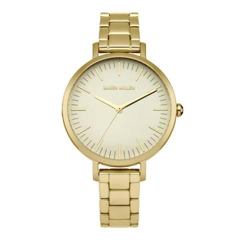 Karen Millen Gold Metal Bracelet Analogue Watch