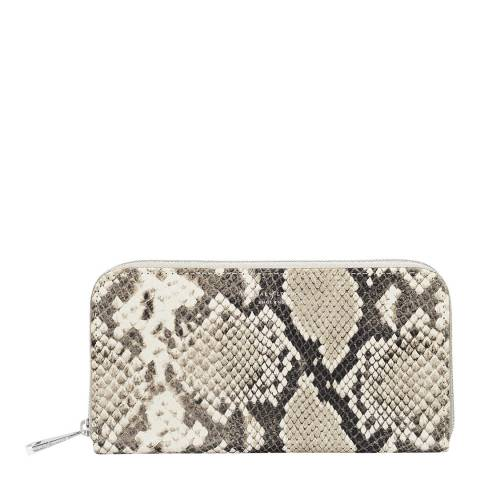 Aspinal of London Continental Clutch Purse Natural Python Embossed