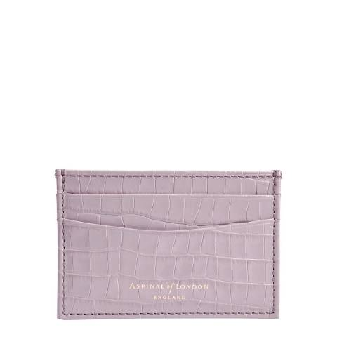Aspinal of London Lilac Croc Mini Slim Credit Card Case