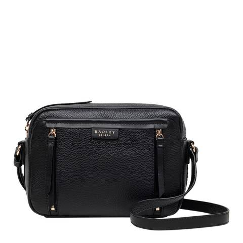 Radley Black Medium Zip Top Crossbody Bag