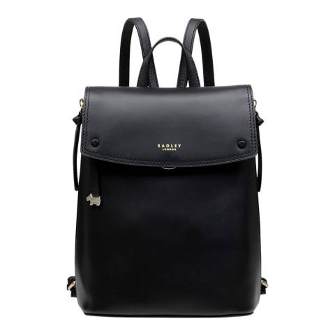 Radley Black Flapover Small Backpack