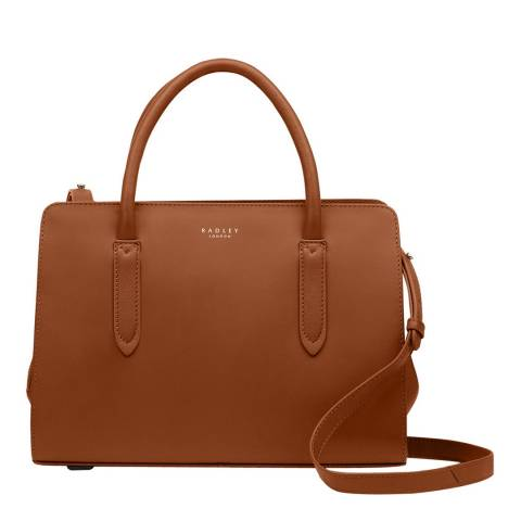 Radley Tan Medium Multiway Grab Ziptop Bag