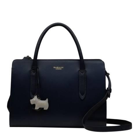 Radley Ink Navy Medium Multiway Grab Ziptop Bag