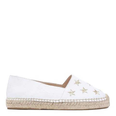 Laycuna London White Star Suede Spanish Espadrilles