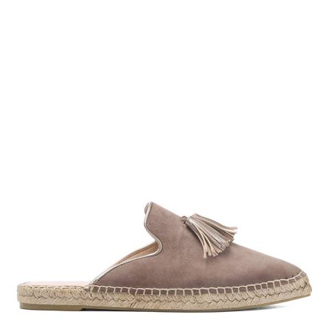 Laycuna London Taupe Tassel Suede Spanish Espadrilles