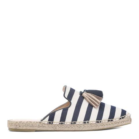 Laycuna London Navy Stripe Tassel Spanish Espadrilles