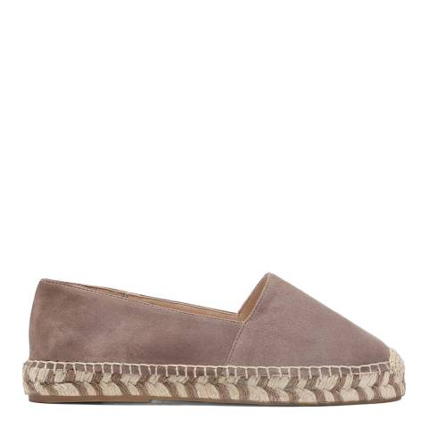 Laycuna London Taupe Suede Spanish Espadrilles