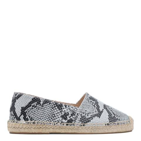 Laycuna London Snake Print Leather Spanish Espadrilles