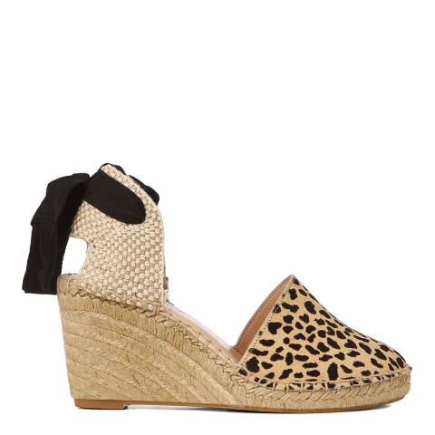 Laycuna London Animal Print Pony Hair Spanish Espadrilles