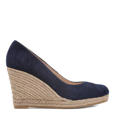 Laycuna London Navy Suede Wedges Espadrilles
