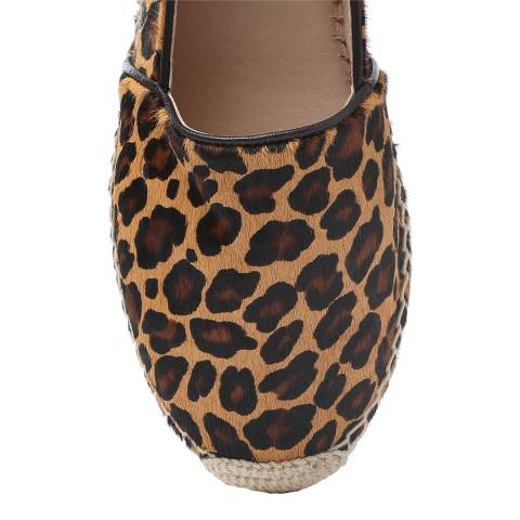 Laycuna London Leopard Calf Hair Spanish Espadrilles