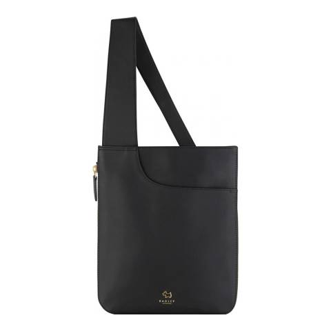 Radley Black Medium Zip Top Pocket Crossbody