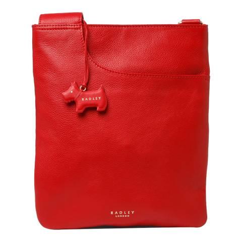 Radley Red Medium Ziptop Pocket Crossbody Bag